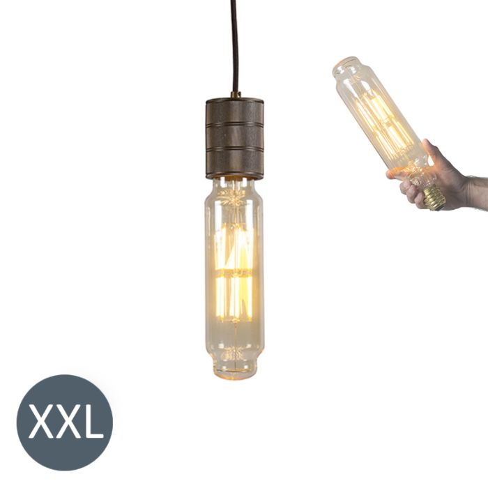 Pendant-Lamp-Tower-Bronze-with-Dimmable-LED-Bulb