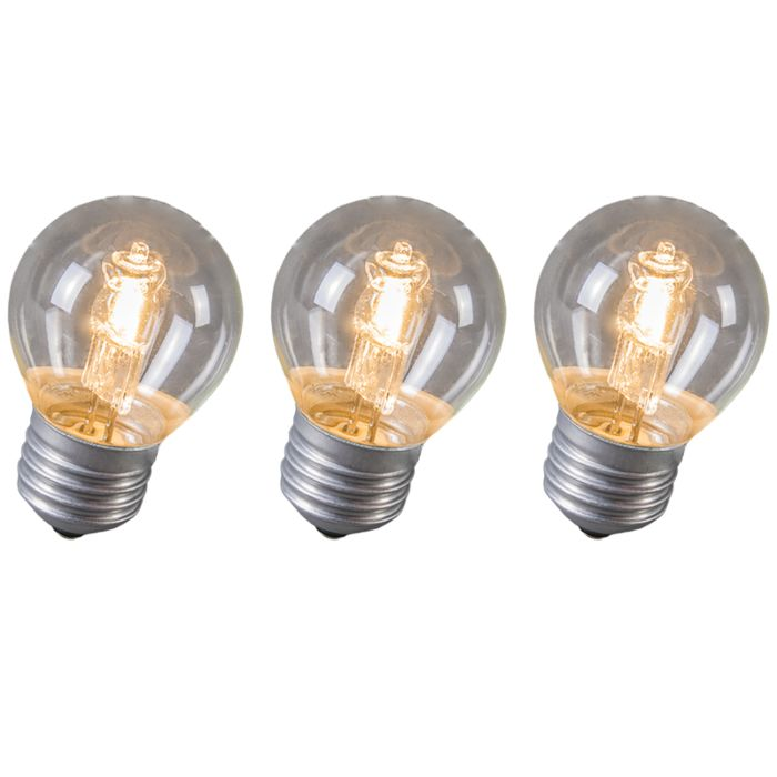 Set-of-3-E27-Ball-Halogen-28W-370LM