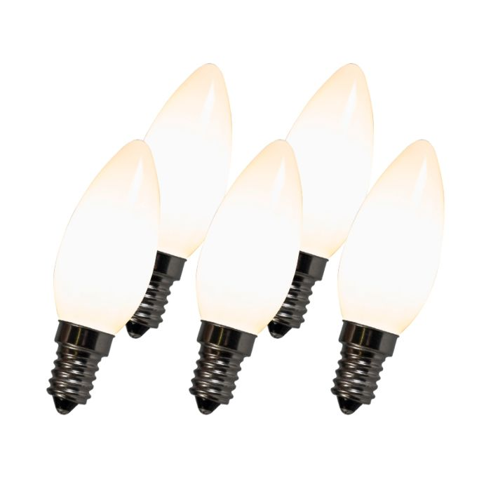 Set-of-5-LED-Filament-Candle-Bulbs-C35-E14-2W-White