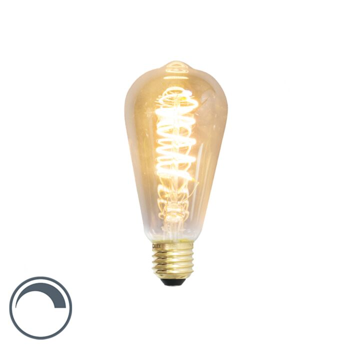 E27-LED-ST64-Spiral-Filament-4W-200LM-2100K-Dimmable