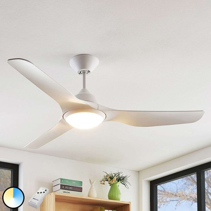 Ceiling Fan White Incl Led And Remote