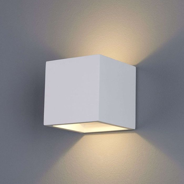 Modern-wall-lamp-white-plaster-incl.-LED---Marita