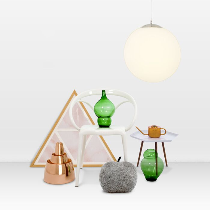 Modern-hanging-lamp-glass-40cm---Ball
