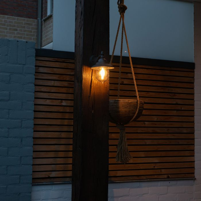 Romantic-outdoor-wall-lamp-dark-gray---Oxford