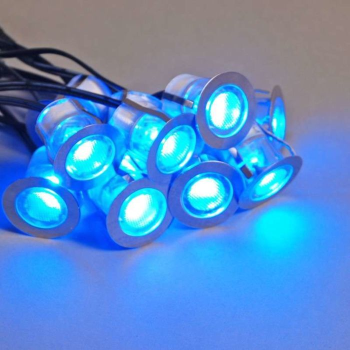 Komo-LED-built-in-set-of-10-pieces---IP65---blue