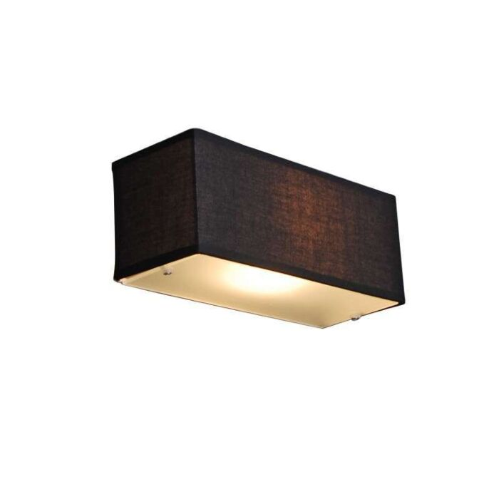 Wall-lamp-Drum-rectangular-black
