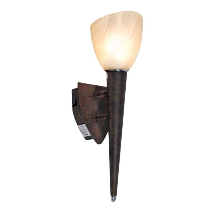 Wall-lamp-Shield-rust-coloured