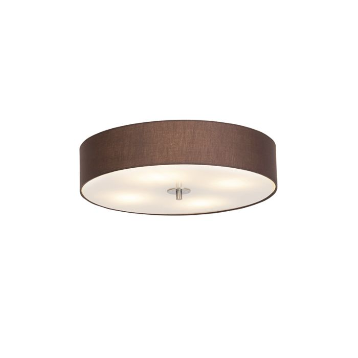 Country-ceiling-lamp-brown-50-cm---Drum