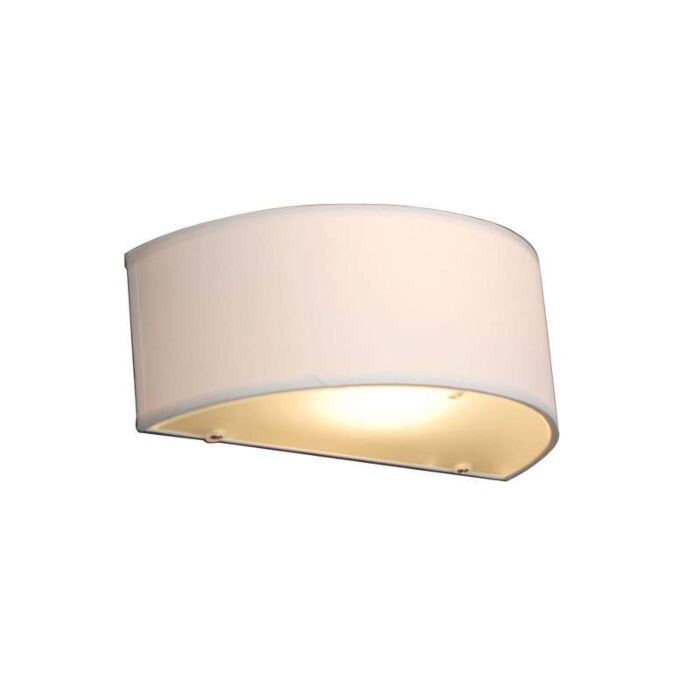 Country-Half-Round-Wall-Lamp-White---Drum