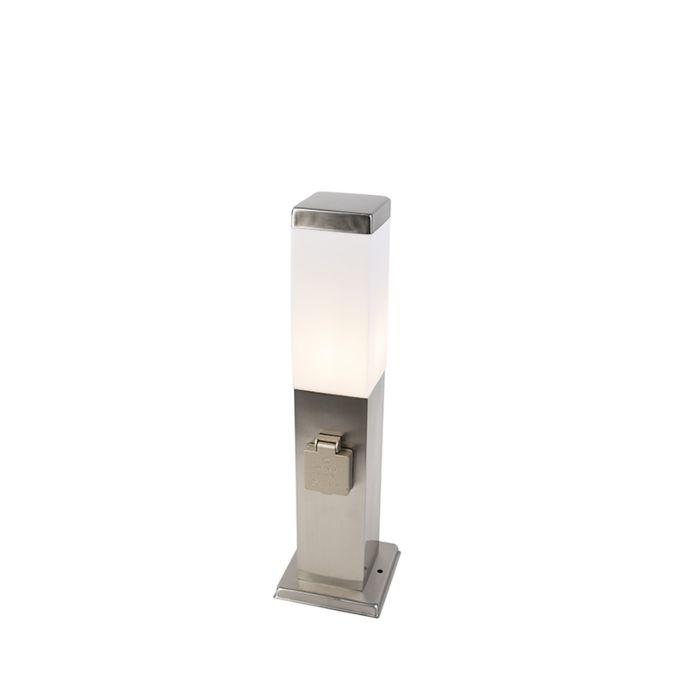 Modern-outdoor-lamp-45-cm-steel-with-socket-IP44---Malios