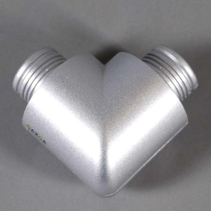 Connector-piece-90-degr.-for-Tube-O-silver