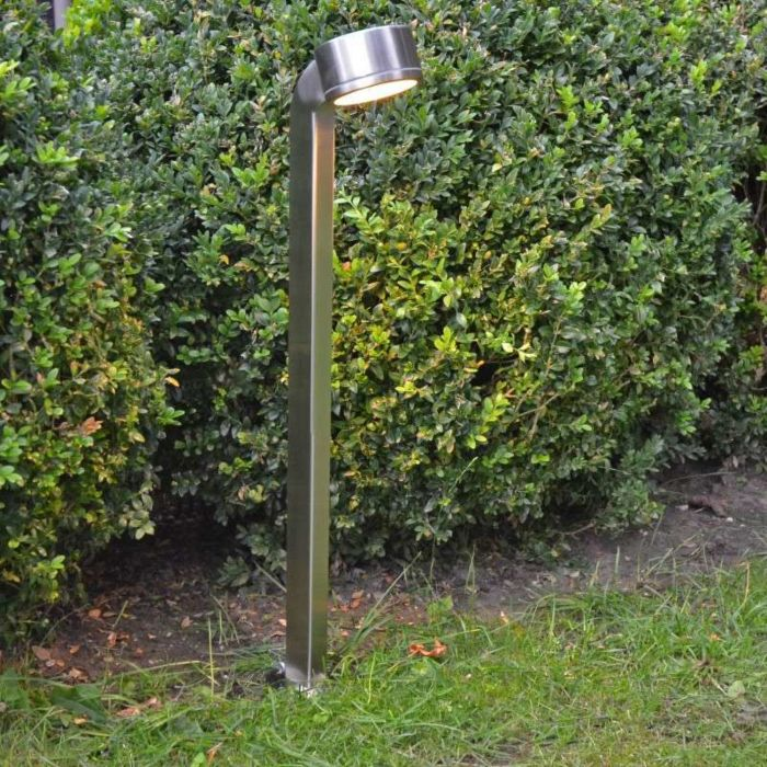 Outdoor-Lamp-Snake-Pole-68cm-Stainless-Steel