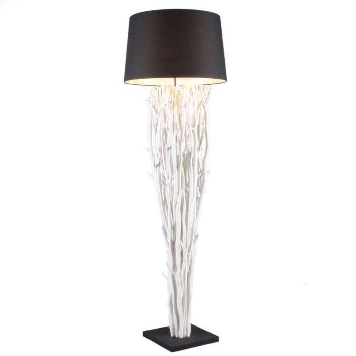 Floor-Lamp-Phatom-White-Wash---Black-Shade