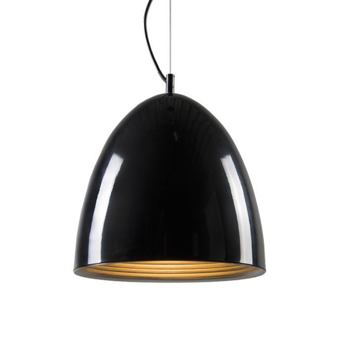 Leaf-pendant-light-in-black