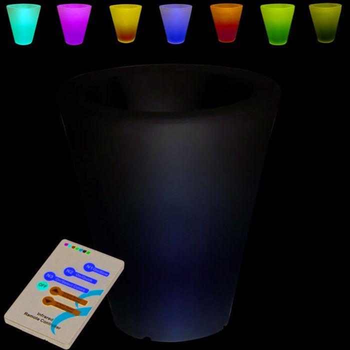 Illuminated-Flowerpot-Flower-70cm-LED