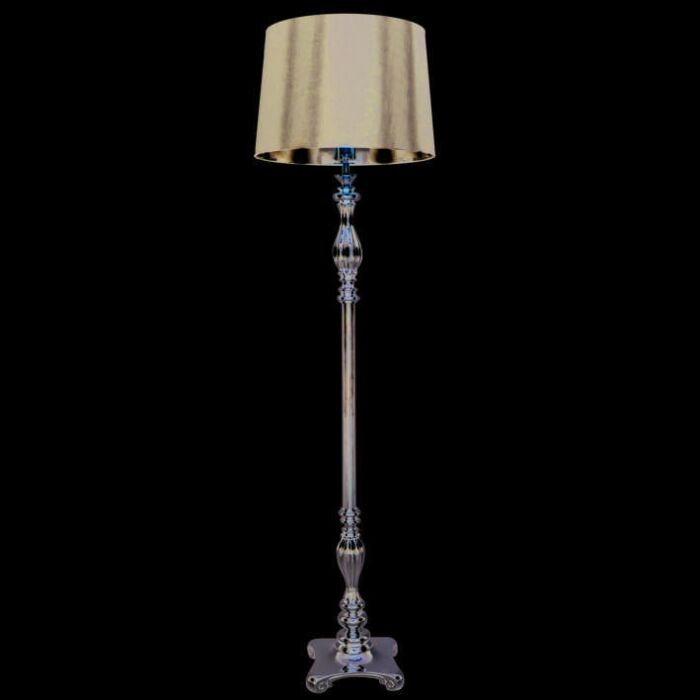 Floor-Lamp-Paris-Chrome-with-Black-Shade