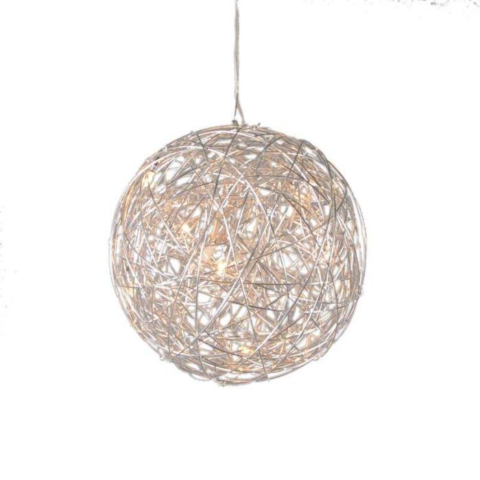Pendant-Lamp-Draht-Sphere-40cm-Aluminium