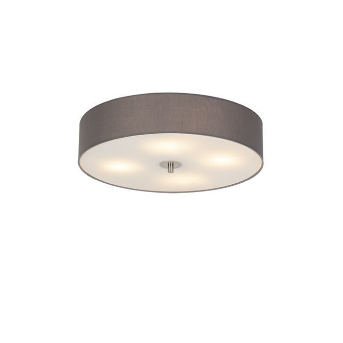 Country-ceiling-lamp-gray-50-cm---Drum