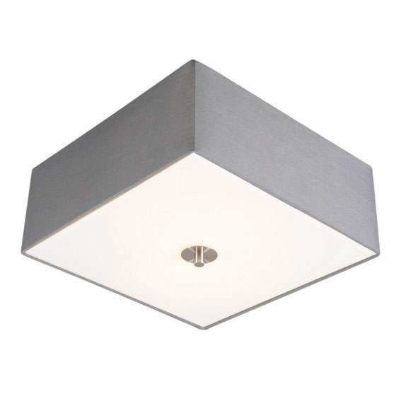 Country-Square-Ceiling-lamp-35cm-Grey---Drum