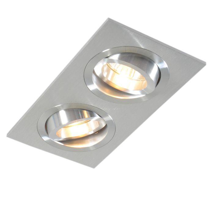 Recessed-Rectangle-Spotlight-Aluminium---Lock-2