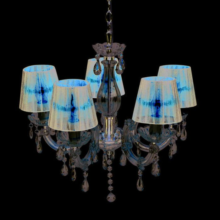 Chandelier-Marie-Theresa-5-with-Organza-Shades