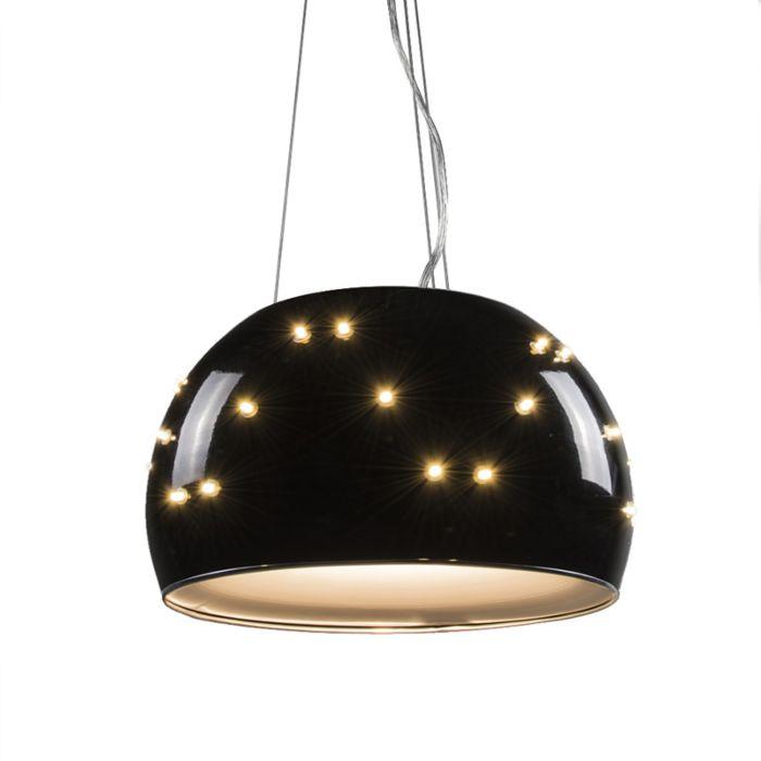 Universe-pendant-lamp-in-black-40cm