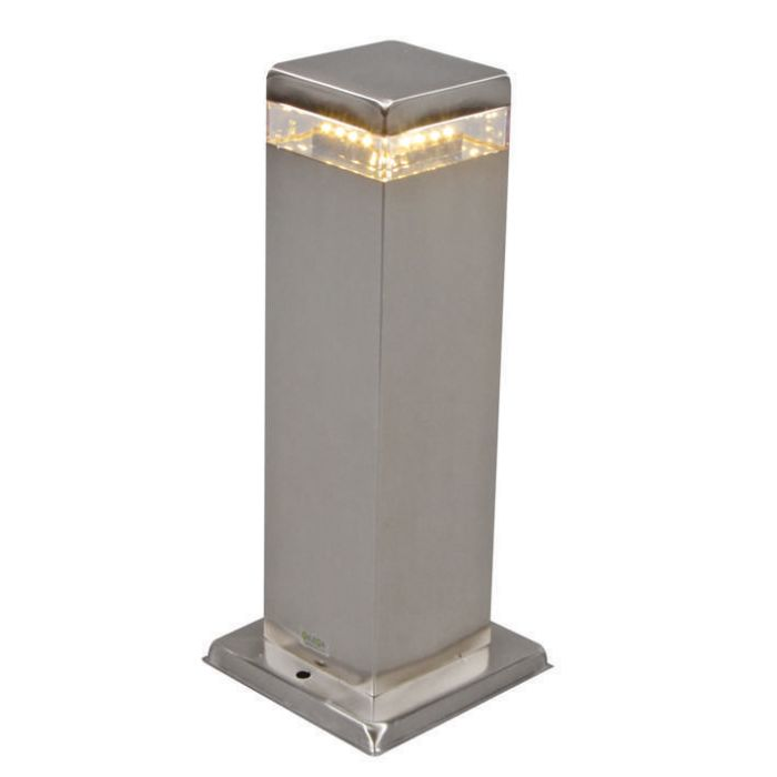 Outdoor-Lamp-Satin-Square-30cm-Steel-with-LED