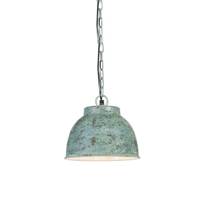 Vintage-Small-Pendant-Lamp-Antique-Green