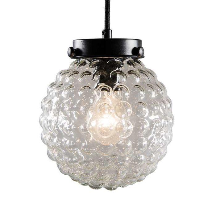 Brufoli-pendant-lamp-with-clear-glass-in-black