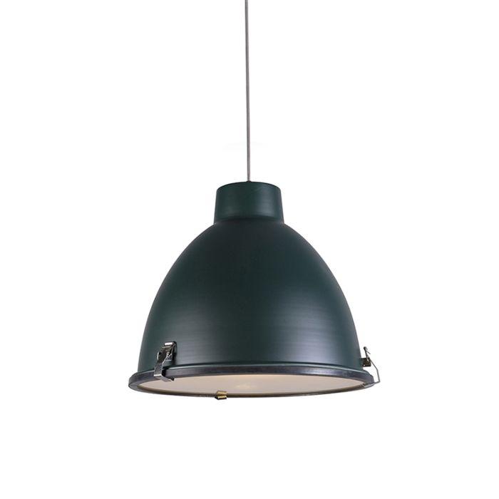Anteros-38-Pendant-light-in-aged-Green