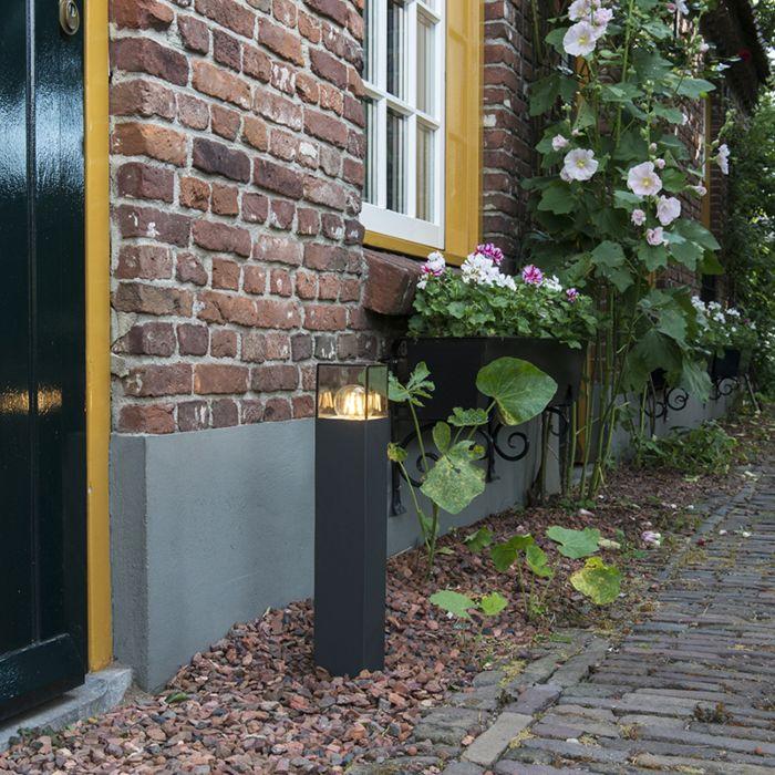 Modern-Outdoor-Pole-50cm-Anthracite-IP44---Denmark