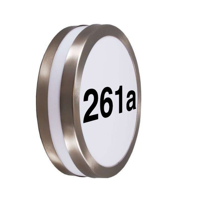 Outdoor-wall-lamp-stainless-steel-with-house-number-IP44---Leeds