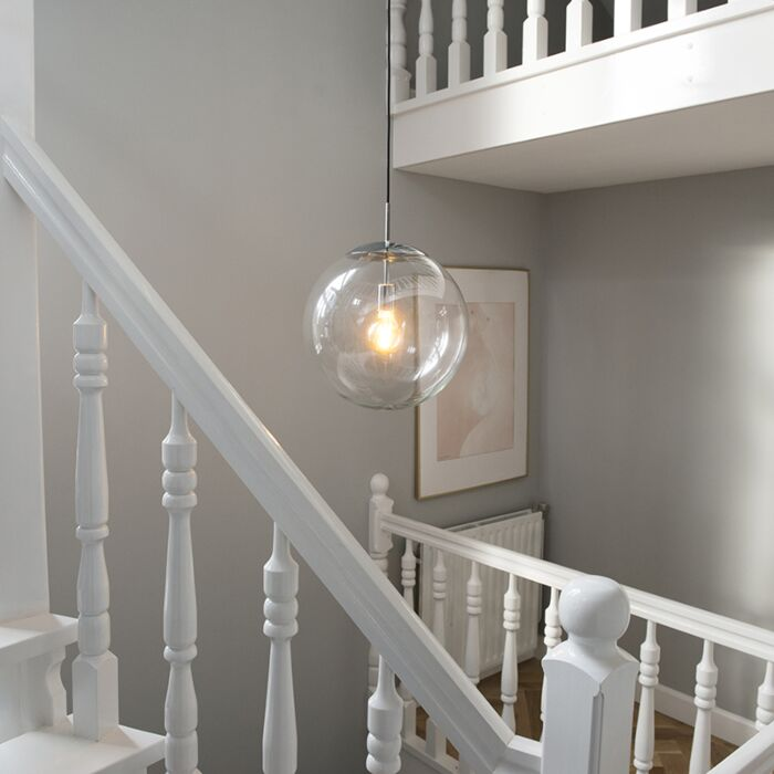 Scandinavian-hanging-lamp-chrome-with-clear-glass---Ball-40