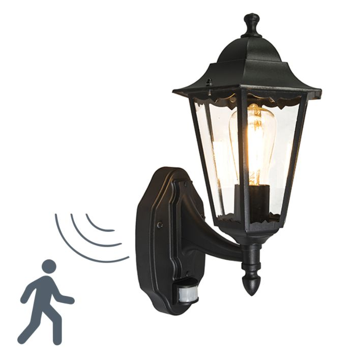Outdoor-wall-light-black-with-motion-sensor-IP44---New-Orleans-up