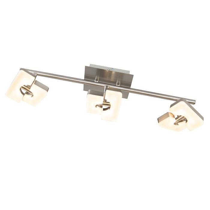 Modern-spot-steel-adjustable-incl.-LED---Twin-3