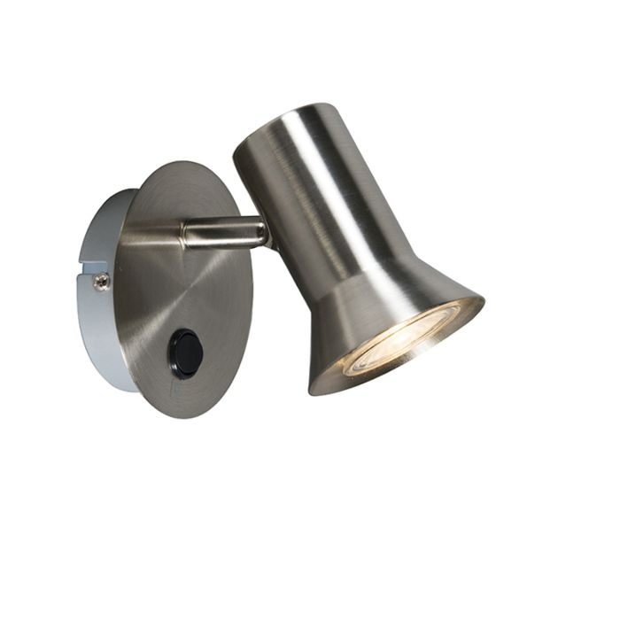 Wall-spot-steel-swivel-and-tiltable-with-switch---Karin-1