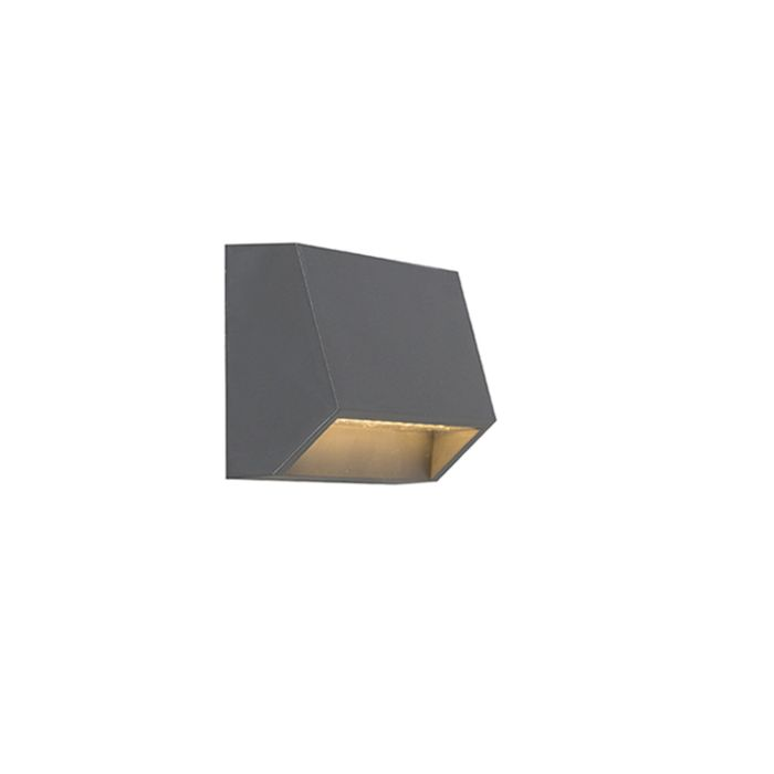 Modern-outdoor-wall-lamp-dark-gray-incl.-LED-IP54---Sandstone-1