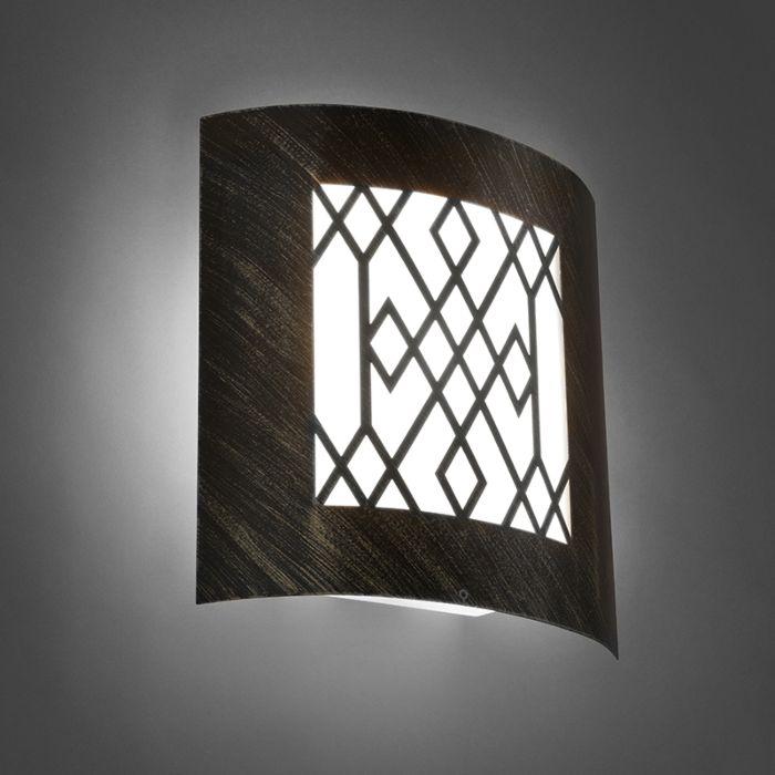 Modern-outdoor-wall-lamp-rust-brown-IP44---Emmerald-Classic