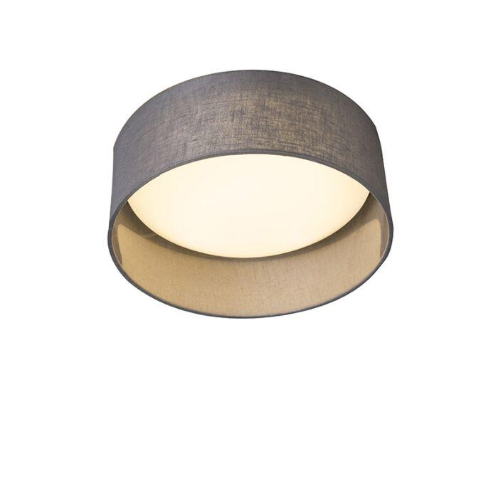 Ceiling-lamp-gray-28-cm-incl.-LED---Drum-Combi