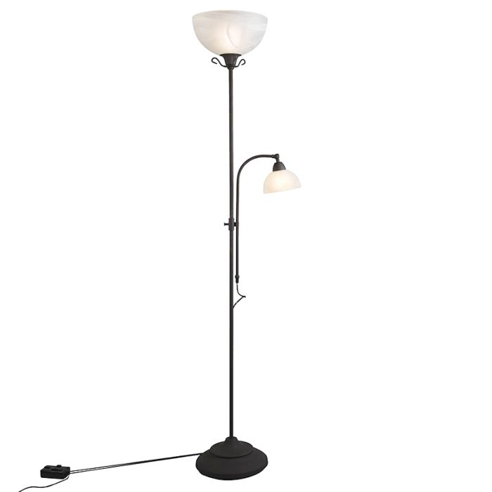 Classic Floor Lamp Brown With Reading Lamp And Dimmer Dallas