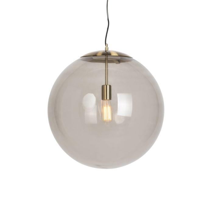 Modern-Pendant-Lamp-Brass-with-Smoke-Shade---Ball-50