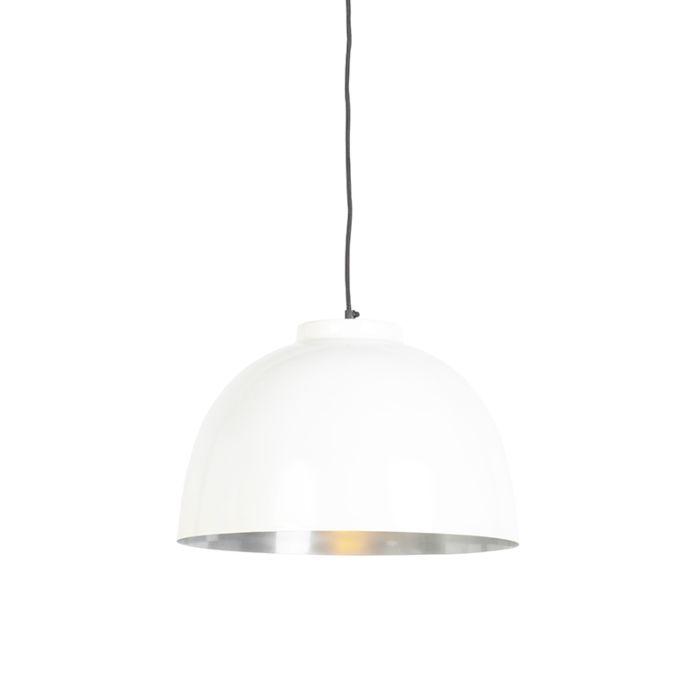 Round Pendant Lamp Small White