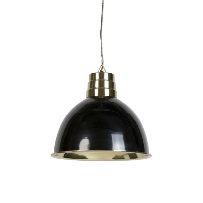 Art-Deco-Pendant-Lamp-Black-with-Brass---Bombay