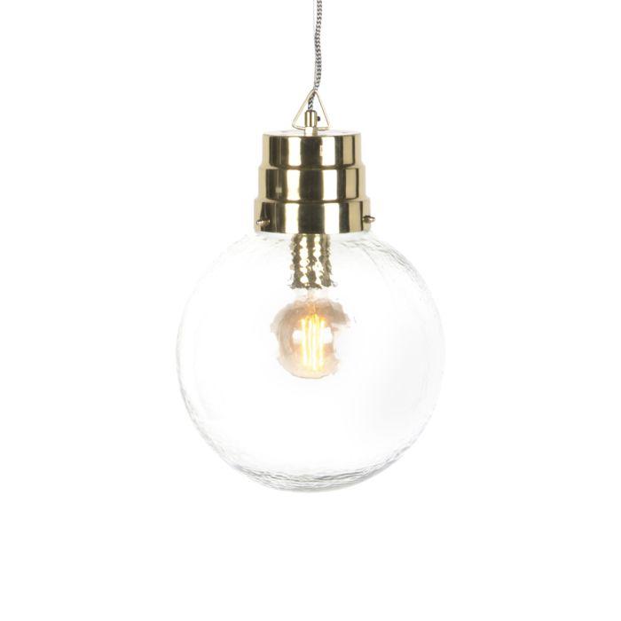 Modern-Pendant-Lamp-Glass-with-Brass---Chennai