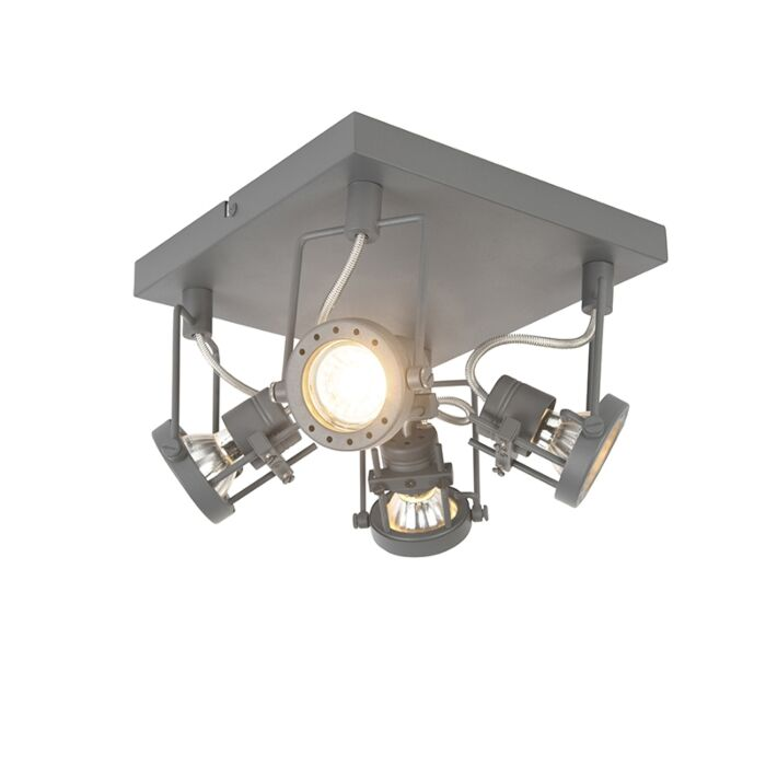 Anthracite-industrial-spotlight-4-way-rotatable-and-tiltable---Suplux