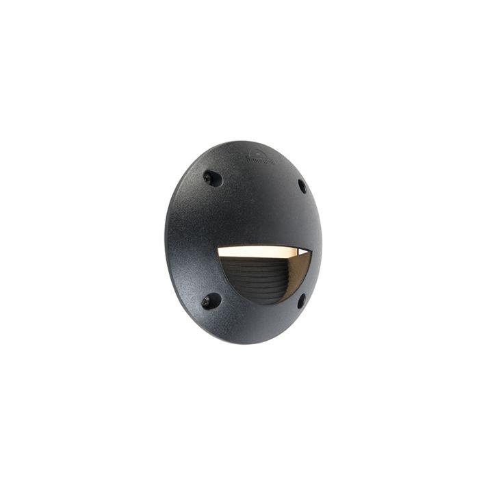 Modern-semi-circular-outdoor-wall-spot-black-incl.-LED-IP65---Leti