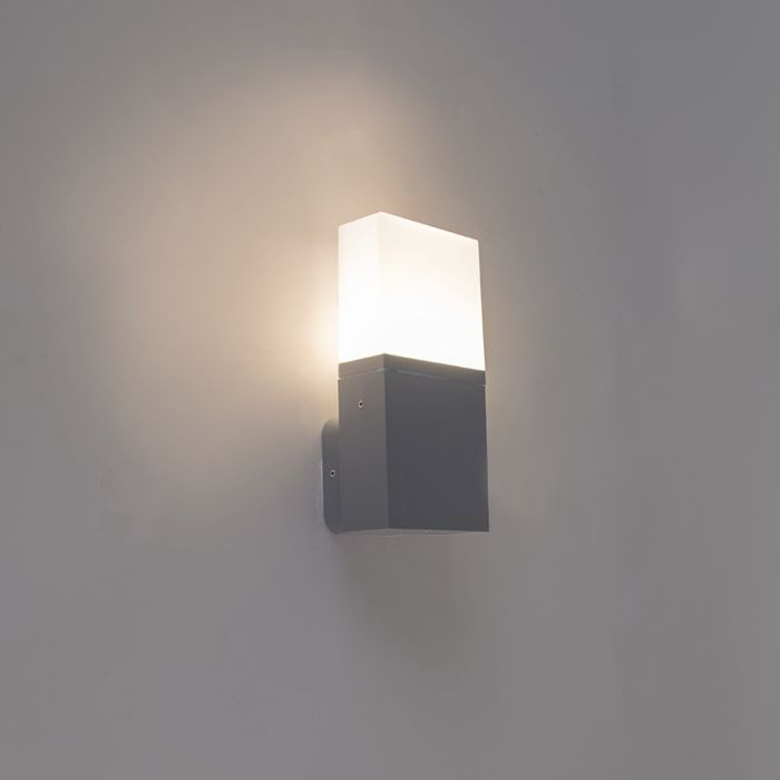 Modern Exterior Wall Lamp Dark Gray