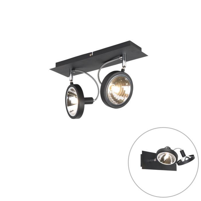 Modern-Adjustable-Spotlight-2-Black---Nox