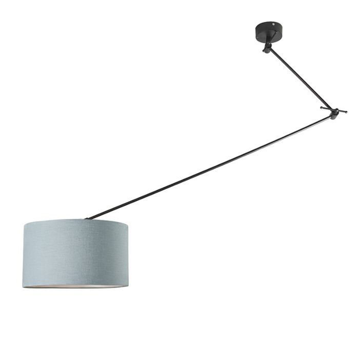 Hanging Lamp Black With Shade 35 Cm