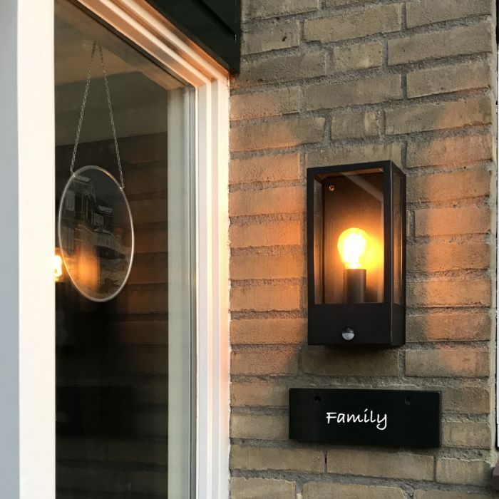 Outdoor-Wall-Lamp-Black-with-Motion-Sensor-IP44---Rotterdam-1